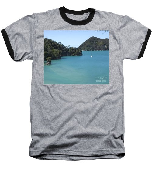 Abel Tasman Bay With Sail Boat Baseball T-Shirt