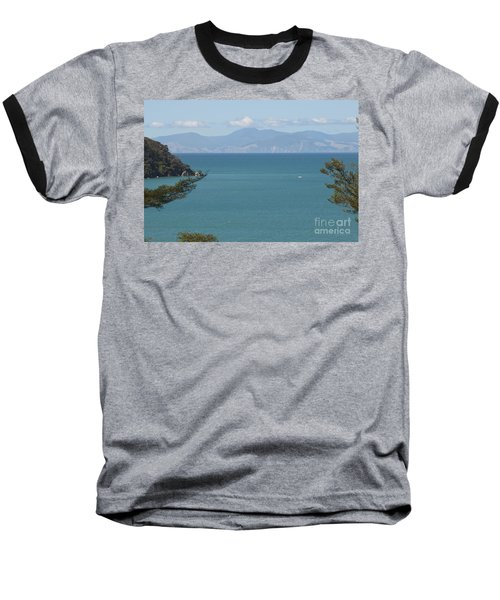 Abel Tasman Split Apple Bay New Zealand Baseball T-Shirt