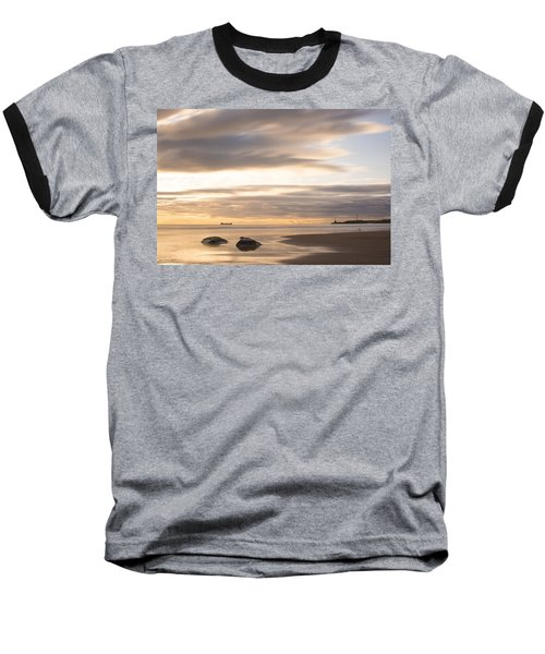 Aberdeen Beach At Dawn Baseball T-Shirt
