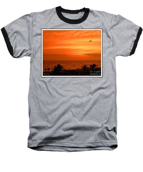 Baseball T-Shirt featuring the photograph Ablaze by Mariarosa Rockefeller