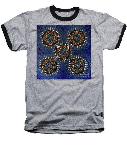Aboriginal Inspirations 16 Baseball T-Shirt by Mariusz Czajkowski