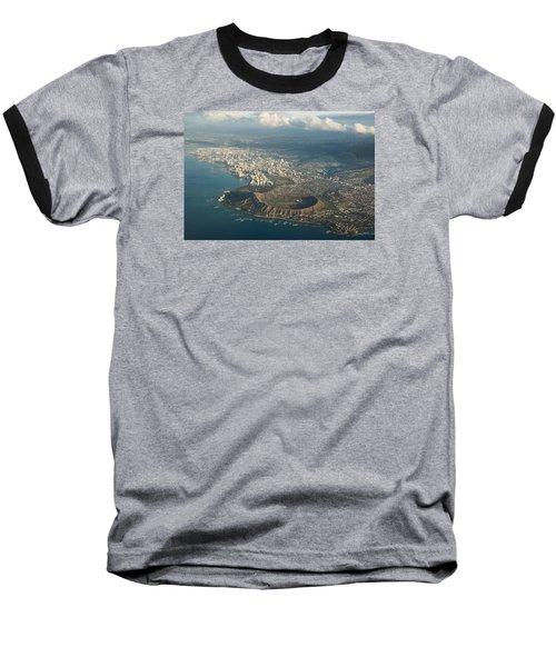 Baseball T-Shirt featuring the photograph Above Hawaii by Georgia Mizuleva