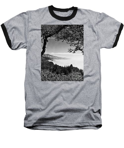 Baseball T-Shirt featuring the photograph Above Nepenthe In Big Sur by Joseph J Stevens