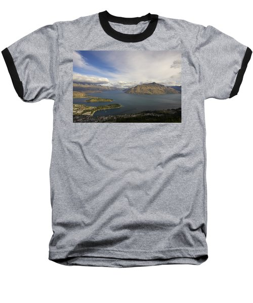 Above Queenstown #2 Baseball T-Shirt by Stuart Litoff