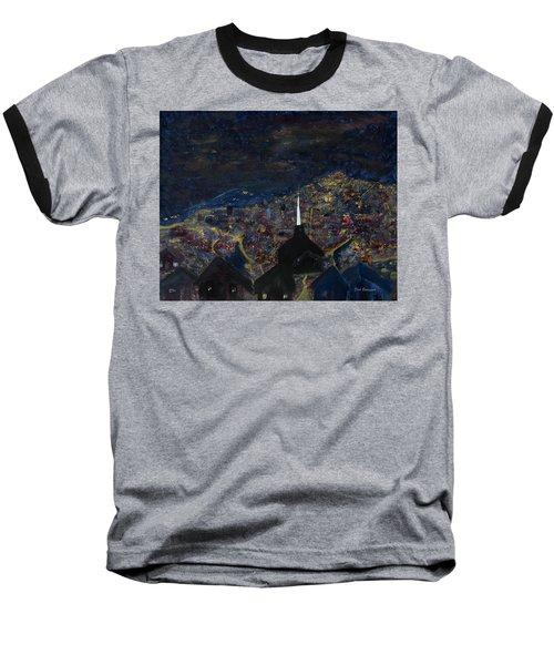Above The City At Night Baseball T-Shirt