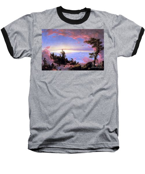 Above The Clouds At Sunrise By Frederick Edwin Church Baseball T-Shirt