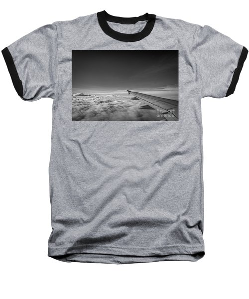 Above The Clouds Bw Baseball T-Shirt