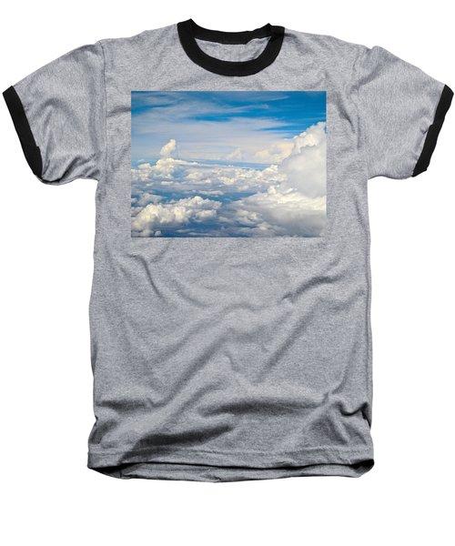 Above The Clouds Over Texas Image B Baseball T-Shirt by Byron Varvarigos