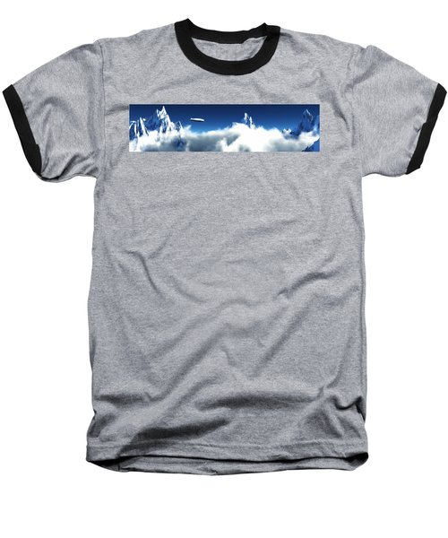 Baseball T-Shirt featuring the digital art Above The Clouds... by Tim Fillingim