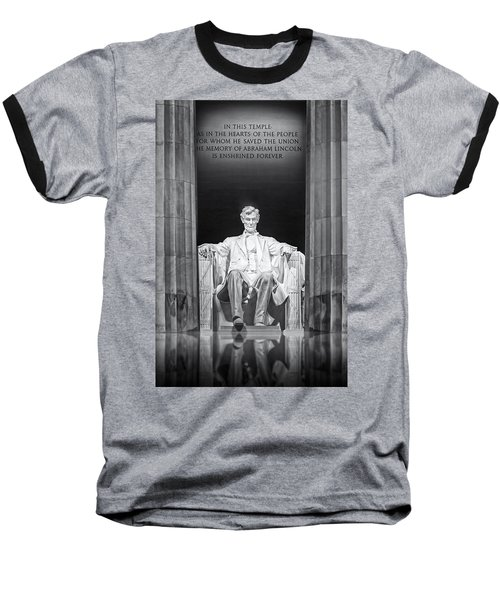 Abraham Lincoln Memorial Baseball T-Shirt