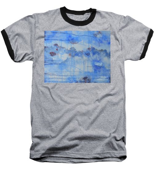Abstract # 3 Baseball T-Shirt by Susan Williams