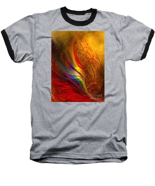 Abstract Art Print Sayings Baseball T-Shirt