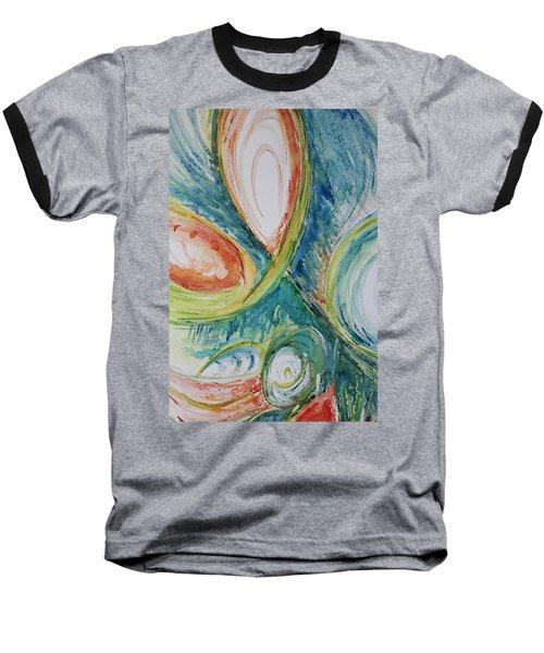 Abstract Chaos Baseball T-Shirt