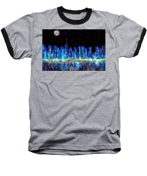 Abstract City Skyline Baseball T-Shirt