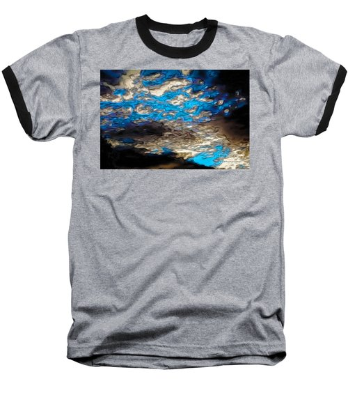 Abstract Clouds Baseball T-Shirt