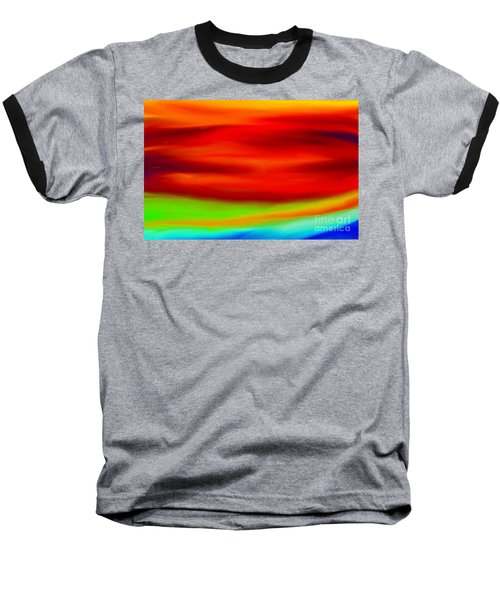 Abstract Colors Baseball T-Shirt by Anita Lewis