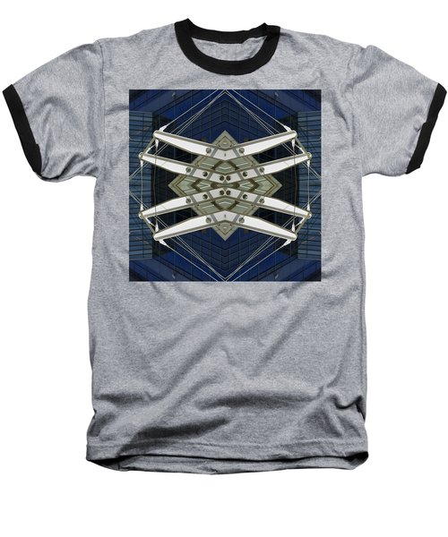 Abstract Construction Baseball T-Shirt