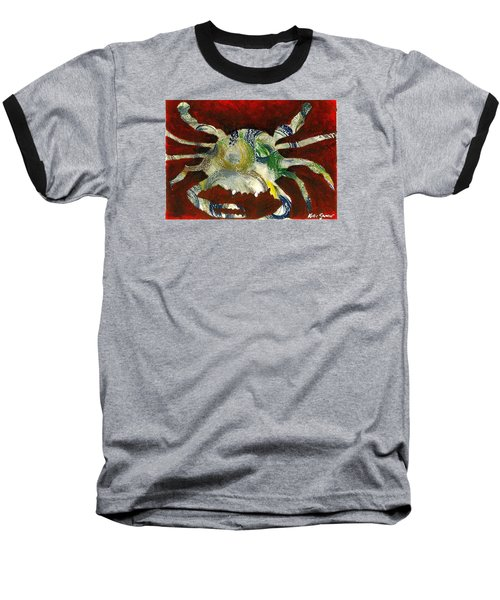 Abstract Crab Baseball T-Shirt