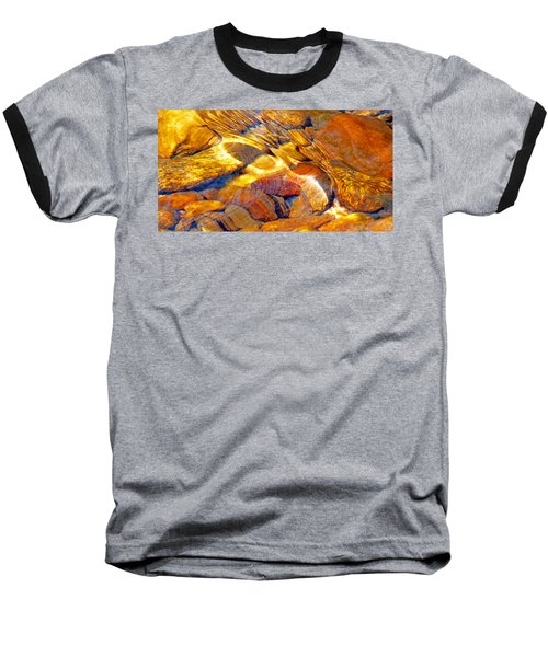 Abstract Creek Water 4 Baseball T-Shirt