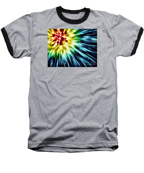 Abstract Dark Tie Dye Baseball T-Shirt