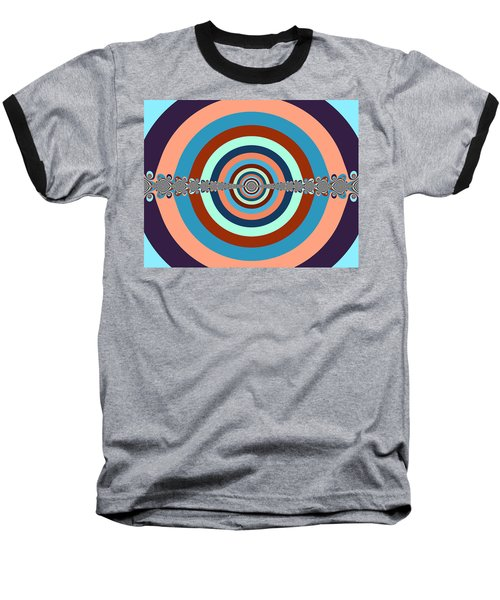 Abstract Dart Board Baseball T-Shirt