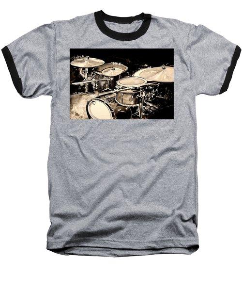 Abstract Drum Set Baseball T-Shirt