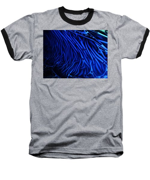 Abstract Experimental Chemiluminescent Photography Blue 1 Baseball T-Shirt