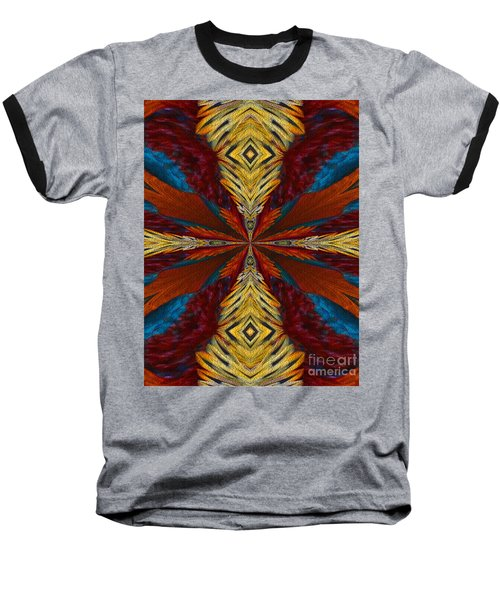Baseball T-Shirt featuring the digital art Abstract Feathers by Smilin Eyes  Treasures