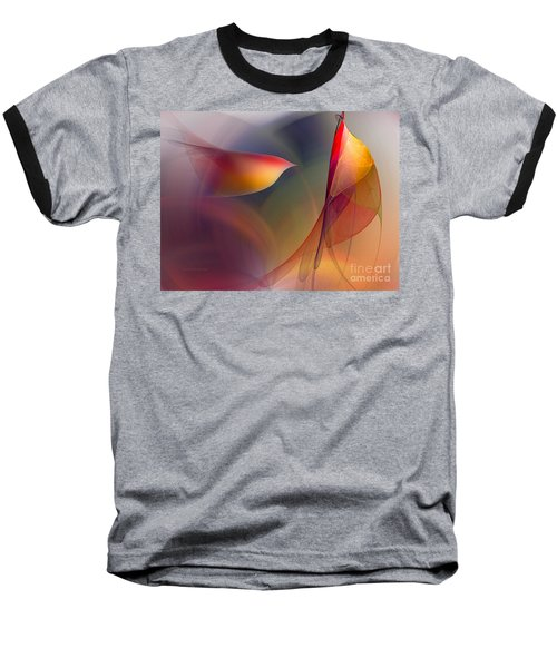 Abstract Fine Art Print Early In The Morning Baseball T-Shirt by Karin Kuhlmann