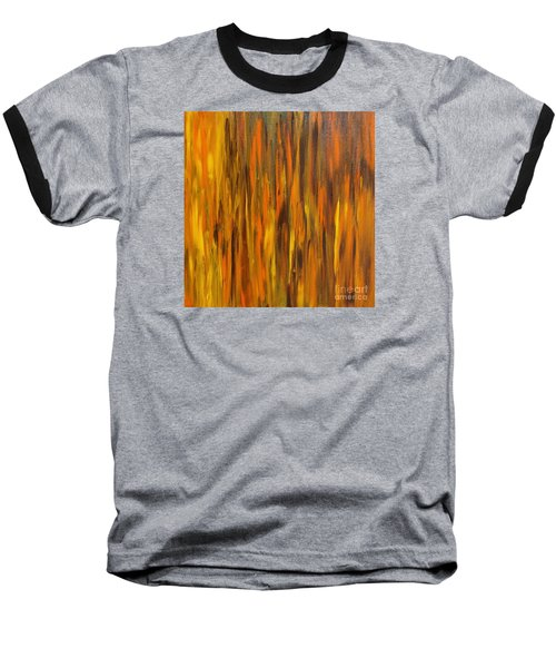 Abstract Fireside Baseball T-Shirt by Susan  Dimitrakopoulos