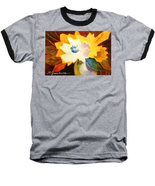 Baseball T-Shirt featuring the painting Abstract Flowers 2 by Marilyn Jacobson