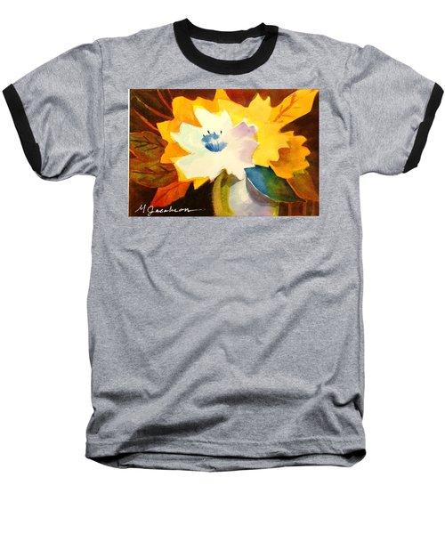Abstract Flowers 2 Baseball T-Shirt