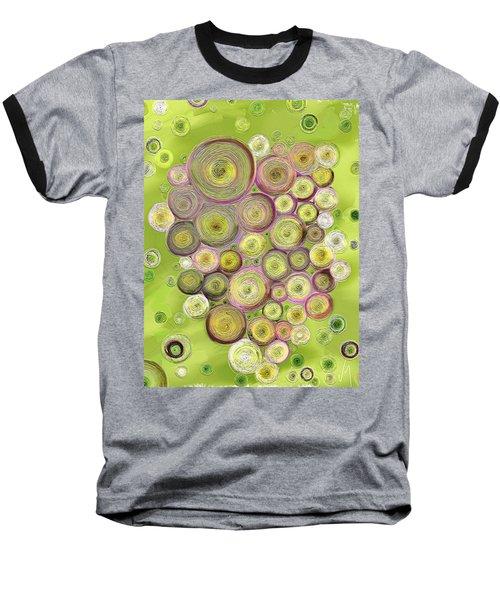 Abstract Grapes Baseball T-Shirt by Veronica Minozzi