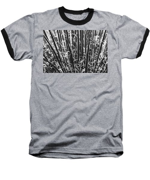 Abstract In Black And White Baseball T-Shirt