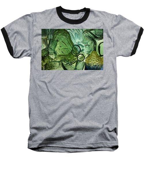 Abstract In Green Baseball T-Shirt