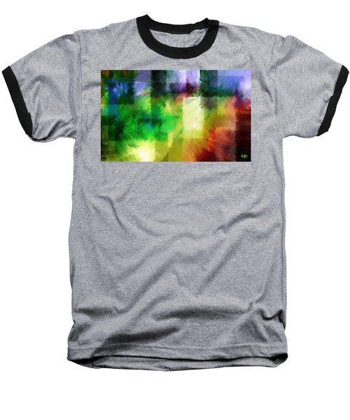 Baseball T-Shirt featuring the painting Abstract In Primary by Curtiss Shaffer