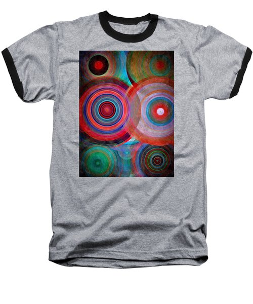 Baseball T-Shirt featuring the mixed media Abstract In Silk  by Gabriella Weninger - David