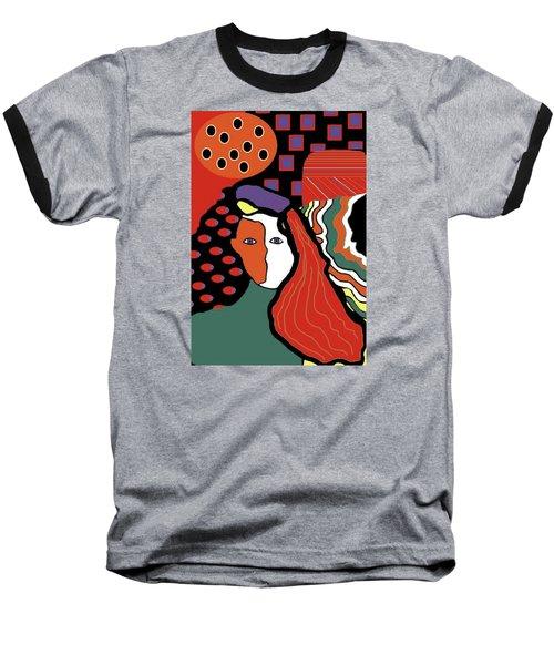 Abstract Lady Baseball T-Shirt