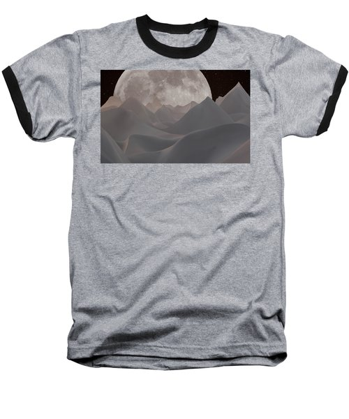 Abstract Landscape #3 Baseball T-Shirt by Wally Hampton