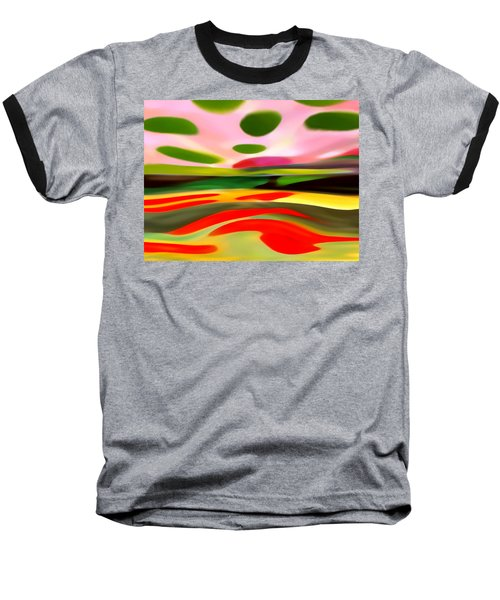 Abstract Landscape Of Happiness Baseball T-Shirt