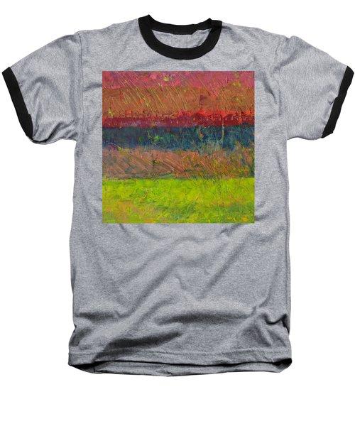 Abstract Landscape Series - Lake And Hills Baseball T-Shirt