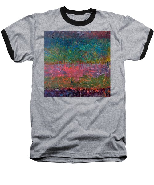 Abstract Landscape Series - Wildflowers Baseball T-Shirt