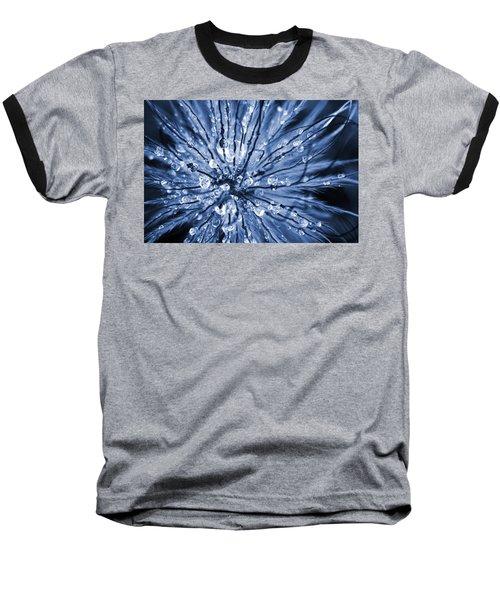 Abstract Macro Flower Head Baseball T-Shirt