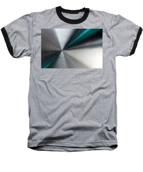 Abstract Metallic Texture With Blue Rays. Baseball T-Shirt