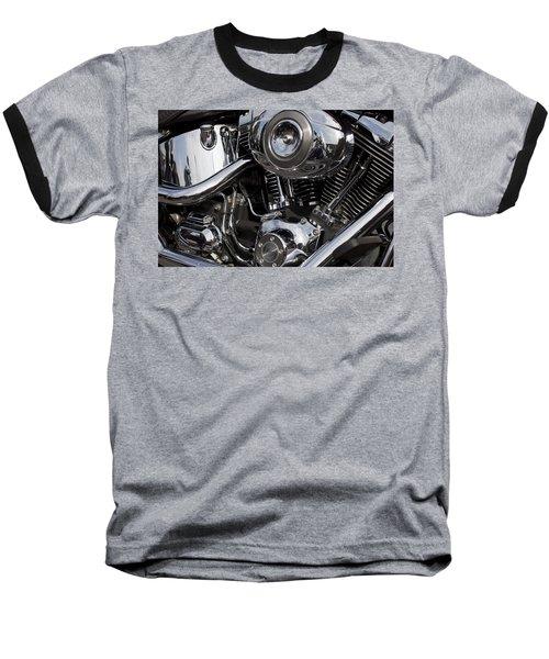 Abstract Motorcycle Engine Baseball T-Shirt