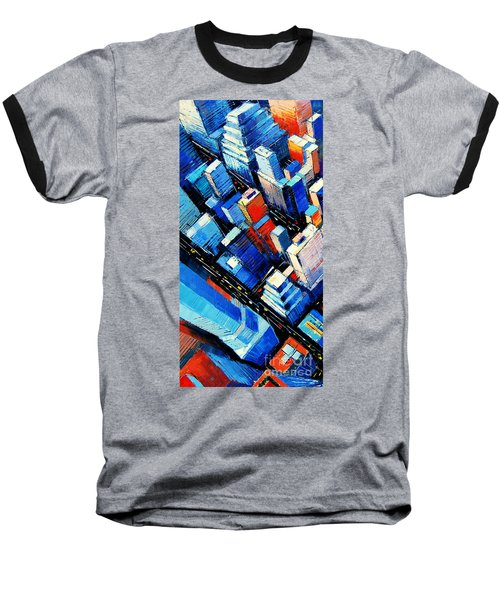 Abstract New York Sky View Baseball T-Shirt