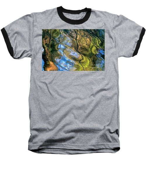 Abstract Of Nature Baseball T-Shirt by Kate Brown