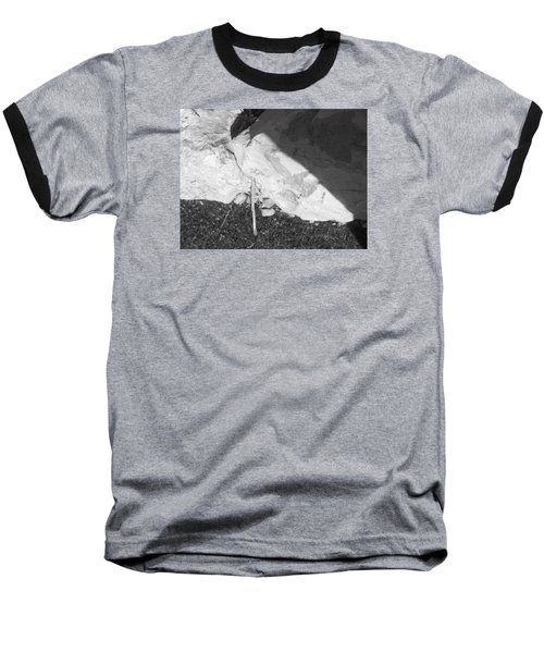 Abstract Of Rock And Shadow Baseball T-Shirt by Esther Newman-Cohen