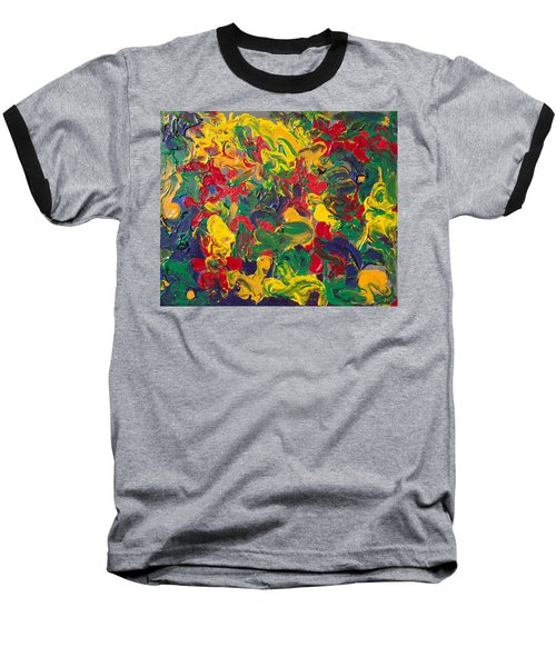 Abstract Painting - Color Explosion Baseball T-Shirt by Enzie Shahmiri