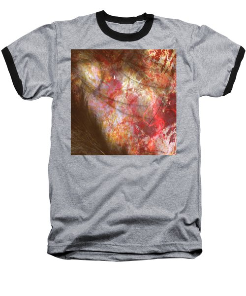 Abstract Pillow Baseball T-Shirt by Kim Prowse